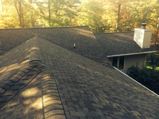 Photo of completed roof Merrill